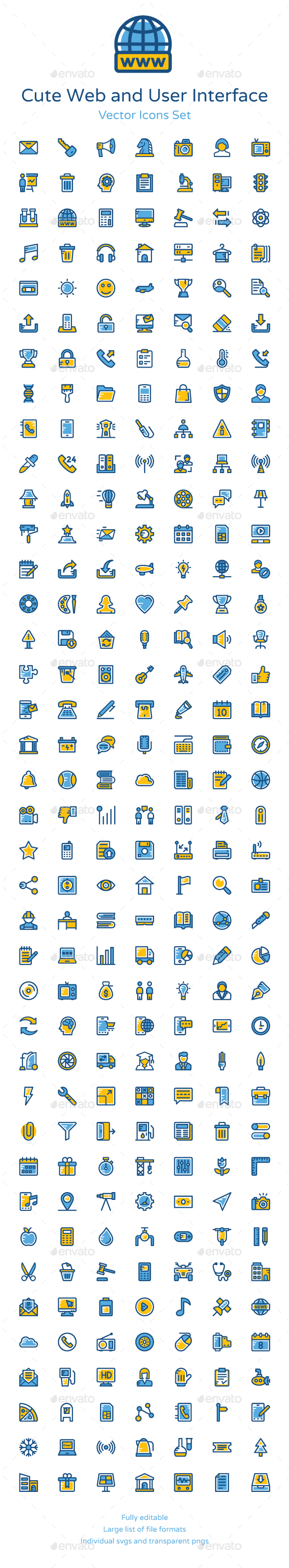 250+ Web and User Interface Icons - Icons
