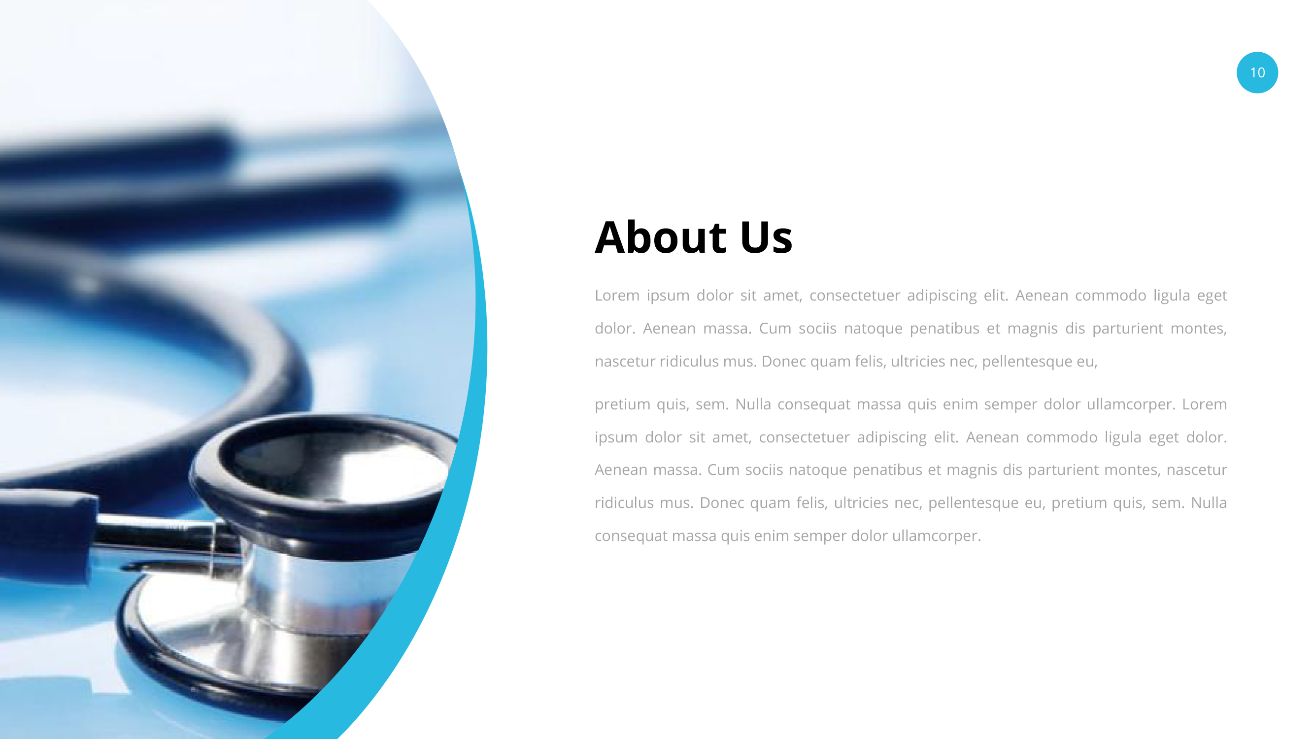 medical and healthcare google slides pitch deck by spriteit