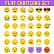 Big 36 Simple Flat Vector Emoji set - GraphicRiver Item for Sale
