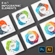 Circle Geometric Figures For Infographic. PSD, EPS, AI. - GraphicRiver Item for Sale