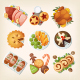 Traditional Christmas Food - GraphicRiver Item for Sale