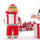 Christmas Greeting With Gingerbread - VideoHive Item for Sale