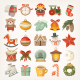 Christmas Stickers and Icons - GraphicRiver Item for Sale