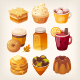 Autumn Sweets and Desserts - GraphicRiver Item for Sale