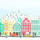 Hand-drawn Cartoon Winter Town - VideoHive Item for Sale