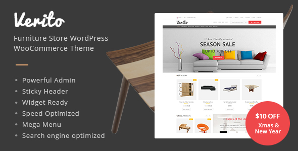 Verito – Furniture Store WooCommerce WordPress Theme