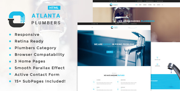 Atlanta - Plumber and Construction HTML Template