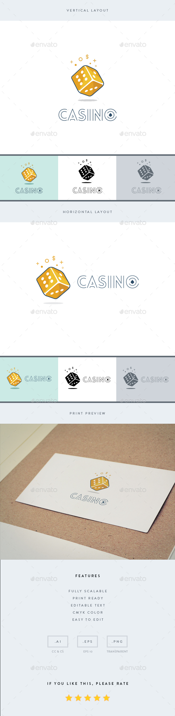 Casino - Logo Template - Objects Logo Templates