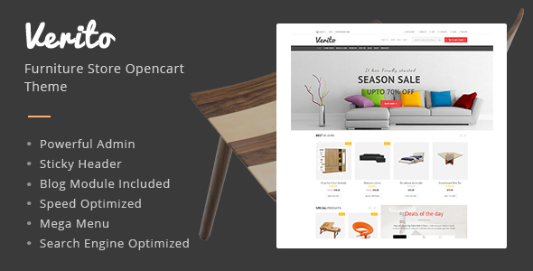 Verito - Furniture Store Responsive OpenCart Theme - Shopping OpenCart