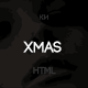 Xmas - One Page portfolio Template Nulled