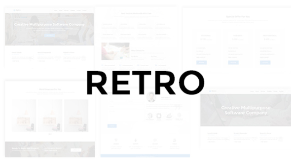 Retro - Multipurpose Business Theme - Technology Site Templates