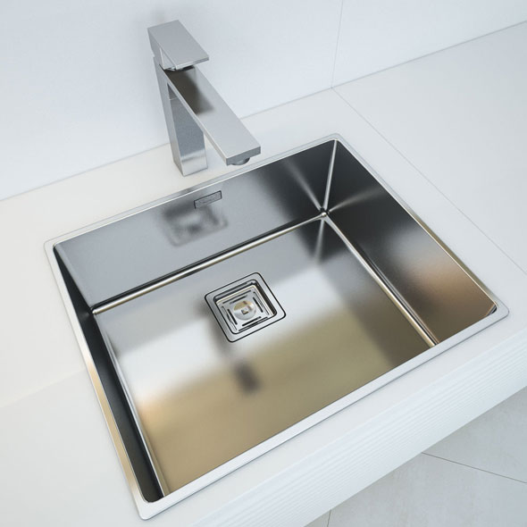Fulgor Milano Plano Kitchen Sink - 3DOcean Item for Sale