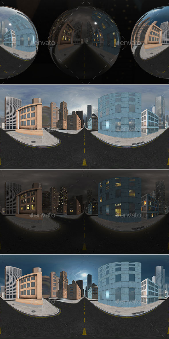 HDRI City Pack Layout4 V2 - 3DOcean Item for Sale