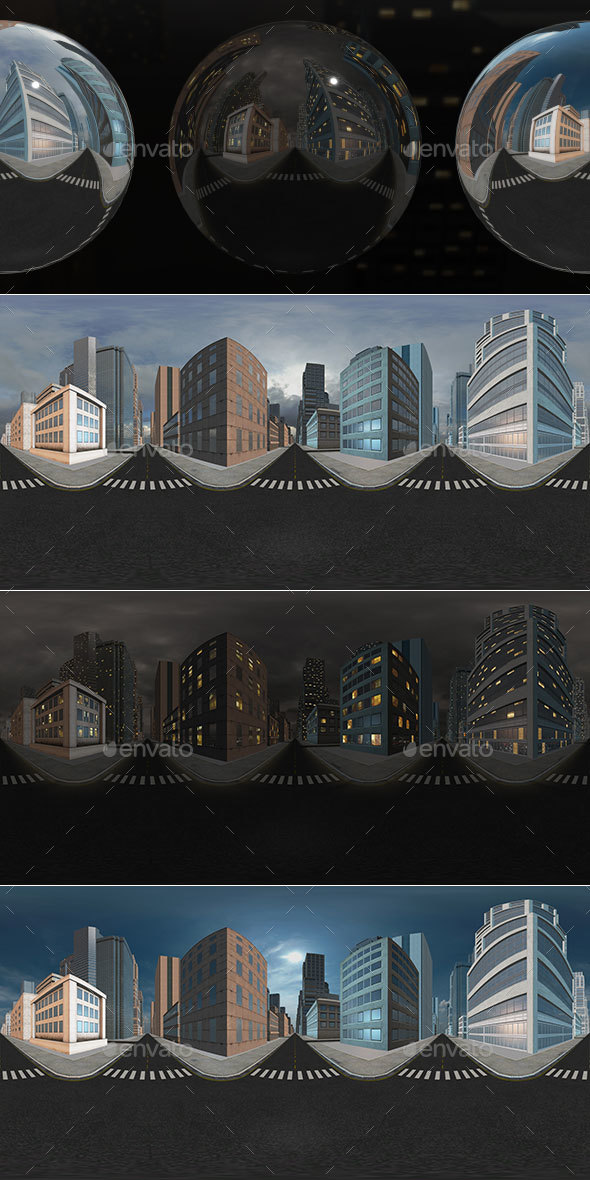 HDRI City Pack Layout5 V1 - 3DOcean Item for Sale