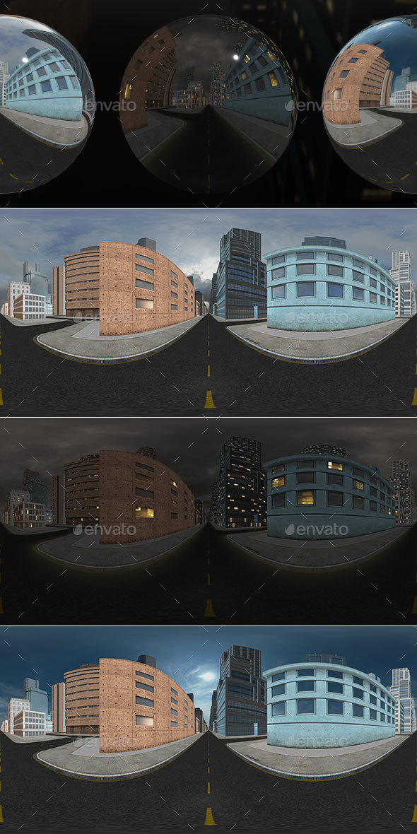 HDRI City Pack Layout5 V2 - 3DOcean Item for Sale