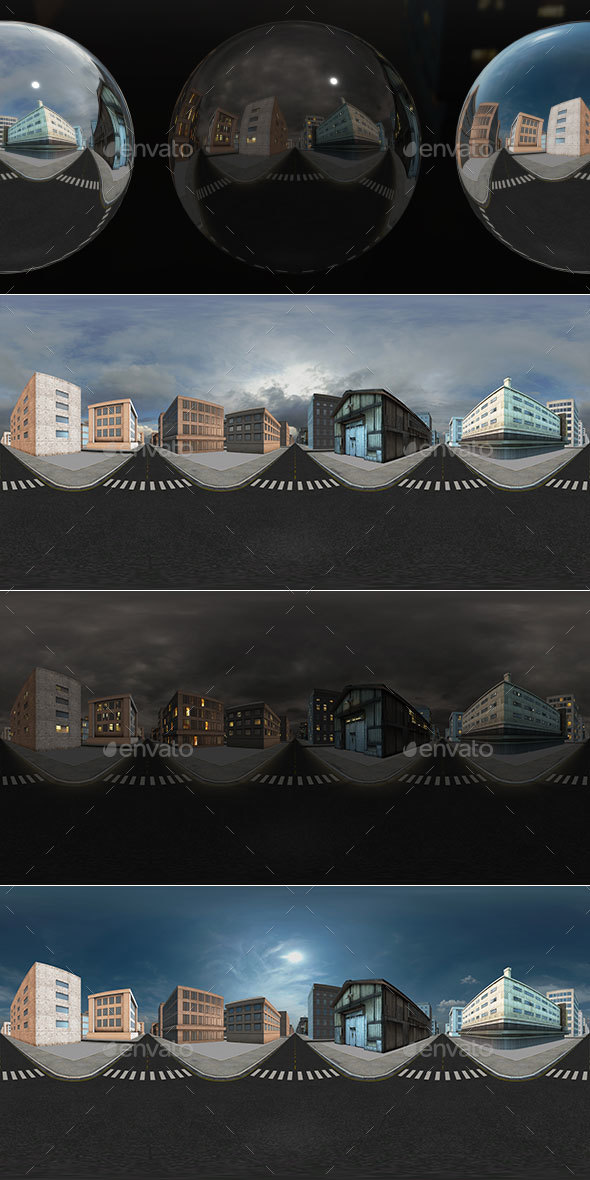 HDRI City Pack Layout6 V1 - 3DOcean Item for Sale