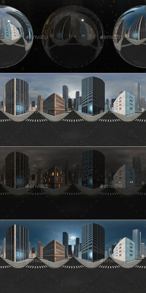 HDRI City Pack Layout3 V1 - 3DOcean Item for Sale