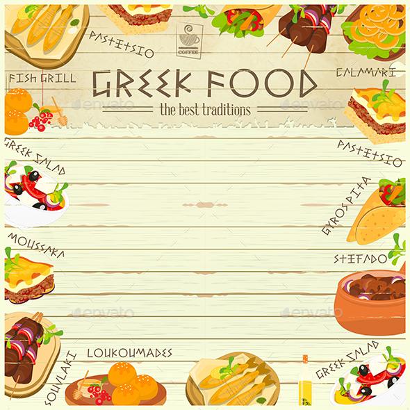 Greek Food Menu - Food Objects