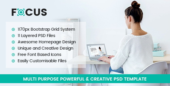 Focus – Multipurpose PSD Template