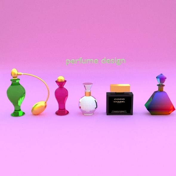 perfume bottles - 3DOcean Item for Sale