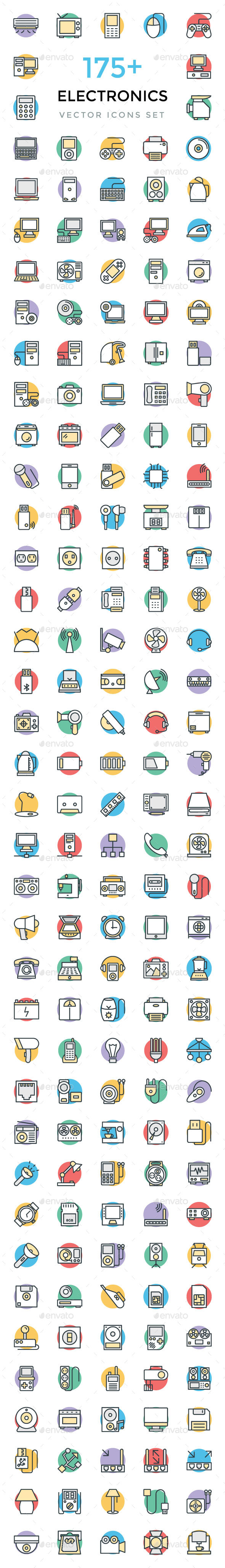175+ Electronics Vector Icons - Icons