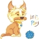 Shaggy Puppy Wants to Play - GraphicRiver Item for Sale