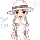 Girl Traveler in White Hat - GraphicRiver Item for Sale