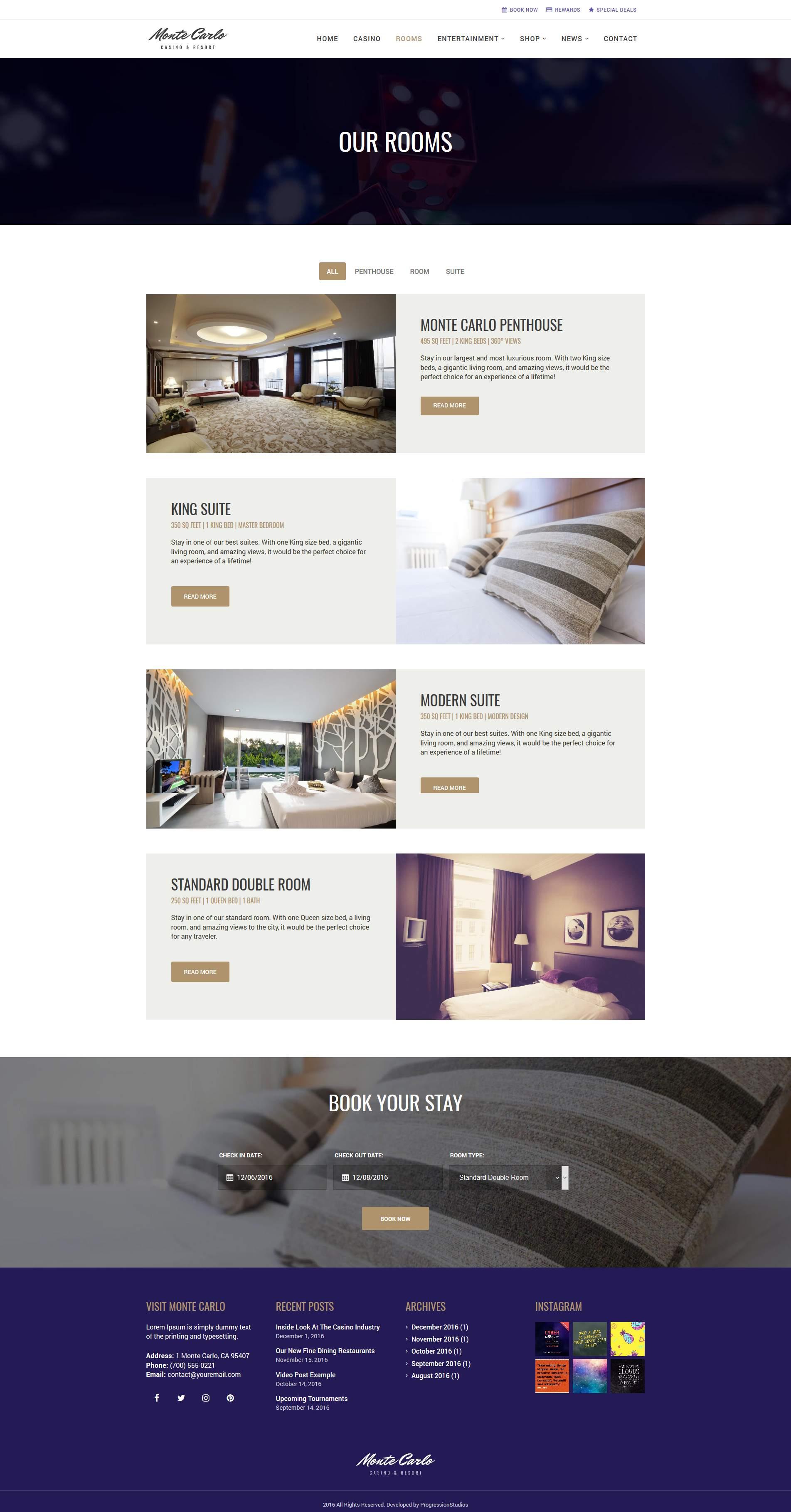 monte carlo - casino resort / hotelprogressionstudios
