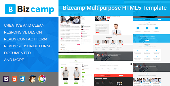 Bizcamp Multipurpose HTML5 Template