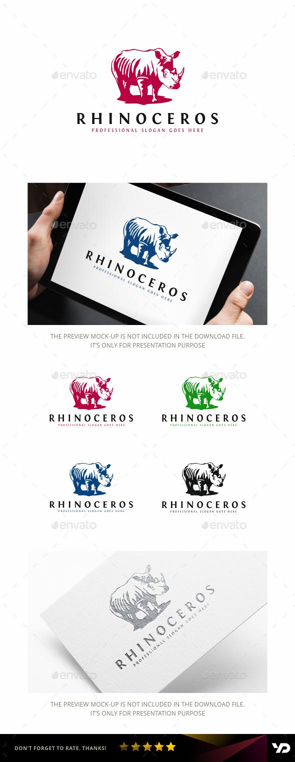 Rhino - Animals Logo Templates