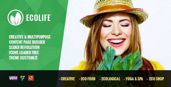 EcoLife - Organic Food Store, Ecology & Vegan, Farm of Organic Products Theme