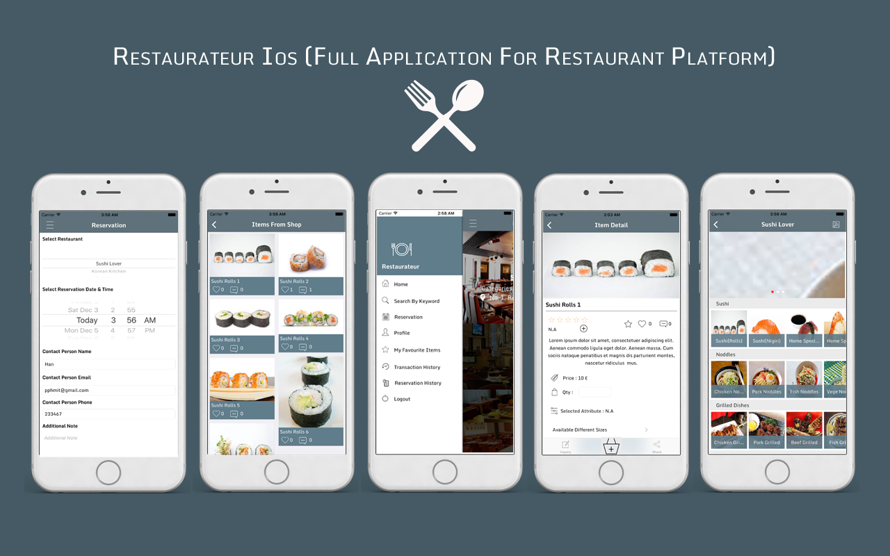 Restaurateur ios full application for restaurant platform
