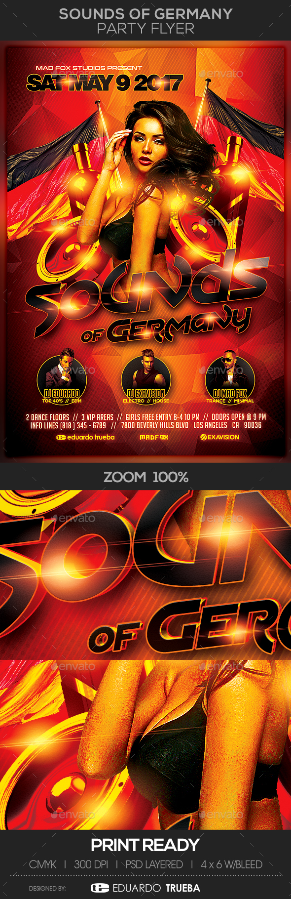 Sounds of Germany Party Flyer - Events Flyers
