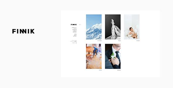 Finnik - Minimal WordPress Theme for Photographers by UXBARN ...