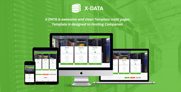 X-DATA – WHMCS & HTML Web Hosting Template