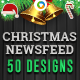 Christmas Newsfeed Banners - GraphicRiver Item for Sale