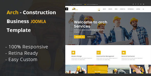 Image of Arch - Construction, Building And Business Joomla! Template