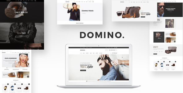 Domino - Responsive Barber, Fashion Shopify Theme