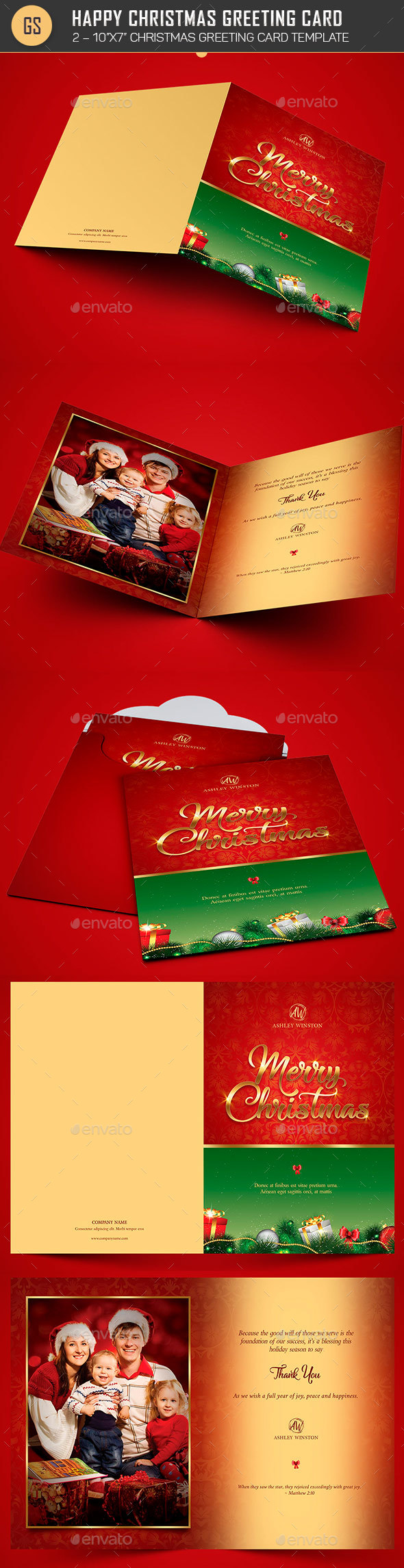 Happy christmas greeting card template by godserv2 graphicriver happy christmas greeting card template holiday greeting cards kristyandbryce Image collections