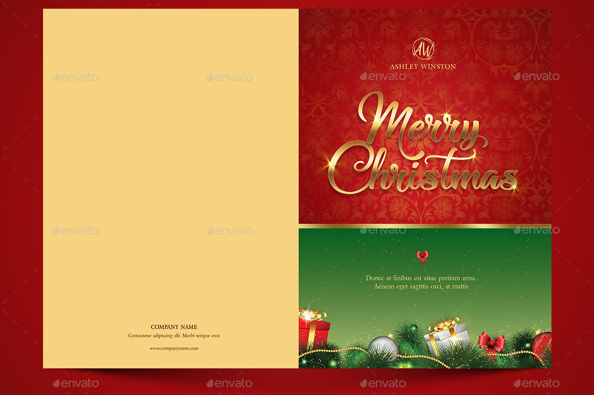 Happy Christmas Greeting Card Template By Godserv GraphicRiver - Christmas greeting card template