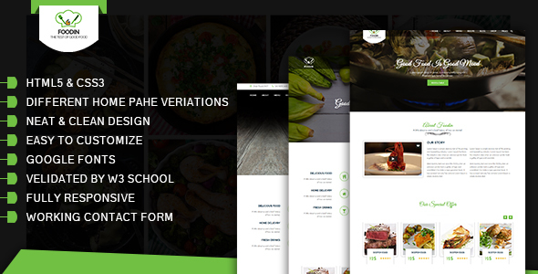 FoodCafe / HTML5 Template