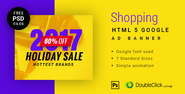 Online shopping - HTML Animated Banner 11 - CodeCanyon Item for Sale