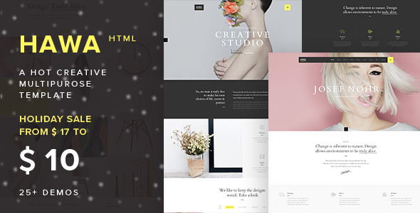 Hawa – A Hot Creative Multi-Purpose Template