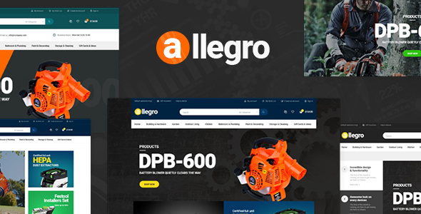 Allegro - WooCommerce WordPress Theme for Hand Tool & Equipment Stores - WooCommerce eCommerce