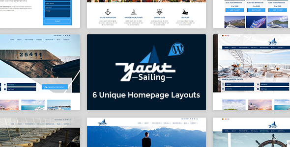 Download Yacht Sailing - Marine Charter WordPress theme