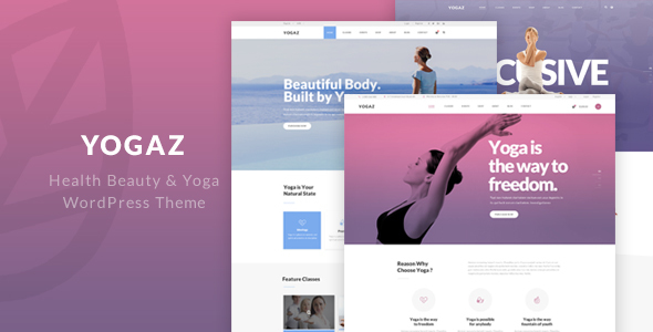 Yogaz – Healthy Beauty & Yoga WordPress Theme