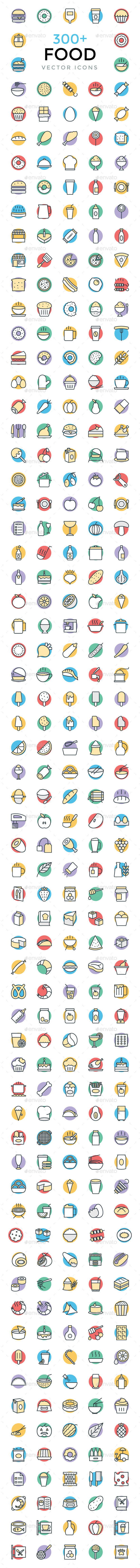 300+ Food Vector Icons - Icons