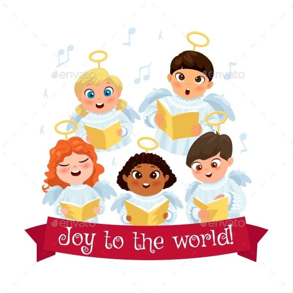 Caroling Kids Composition - Christmas Seasons/Holidays