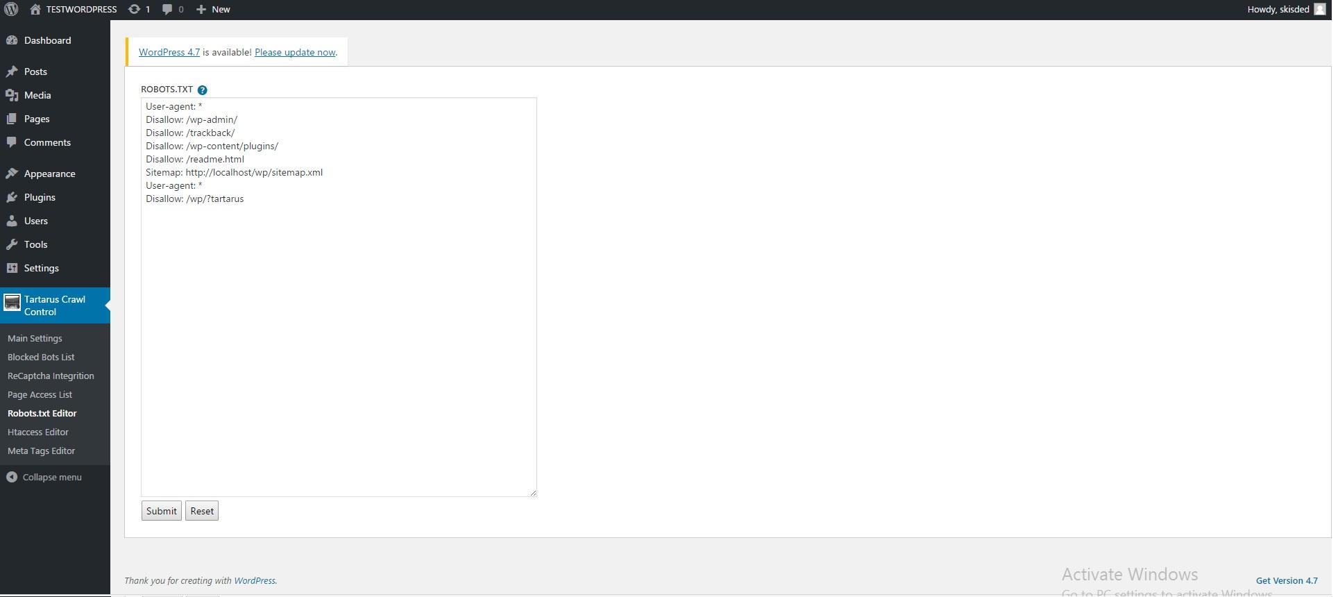 Tartarus Bot Ban & Crawl Control Plugin for WordPress