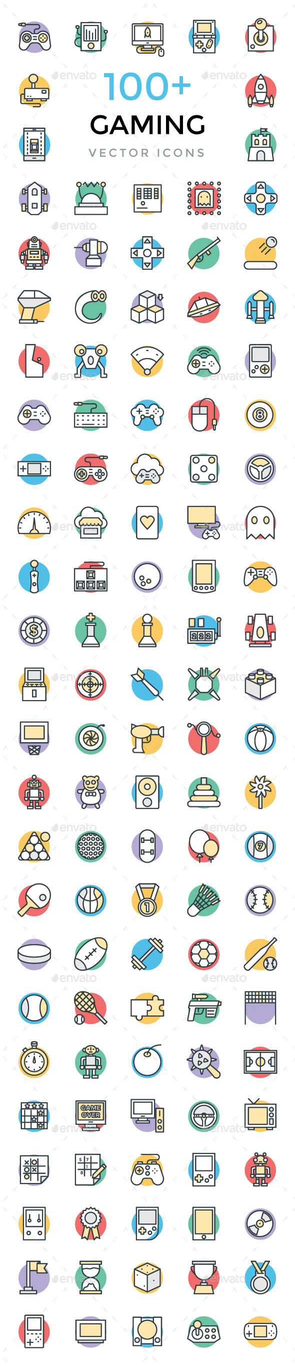 100+ Gaming Vector Icons - Icons